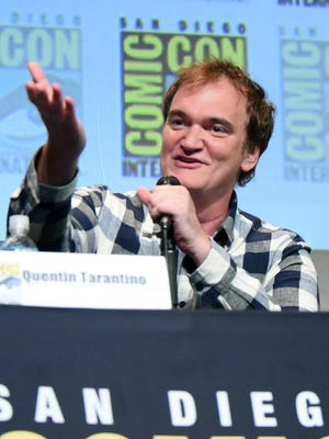 """Quentin Tarantino speaks during """"The Hateful Eight"""" panel on day 3 of Comic-Con International on Saturday, July 11, 2015, in San Diego."""
