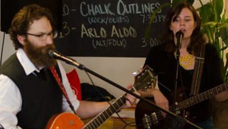 David Manchester and Susanna Meyer, from the Pittsburgh band Arlo Aldo, will play at Coshocton Farmers' Market on Saturday.