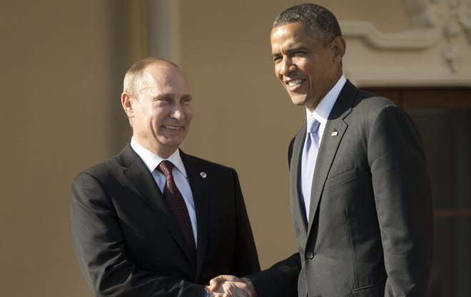 Presidents Obama and Putin.
