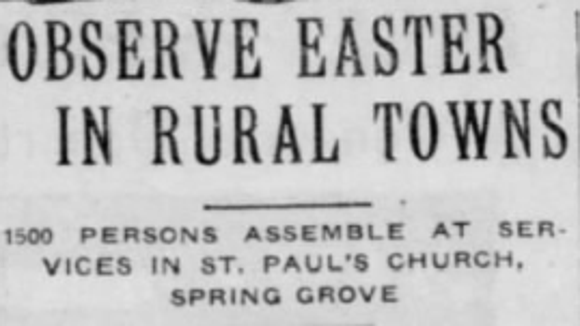 From the York Daily, April 9, 1917.