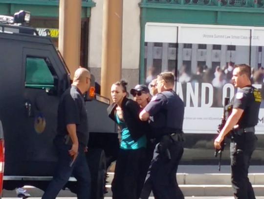 Jessica Hicks, Craig Uran's girlfriend, is taken into
