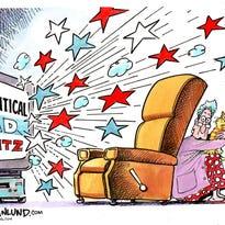 Political TV ad blitz