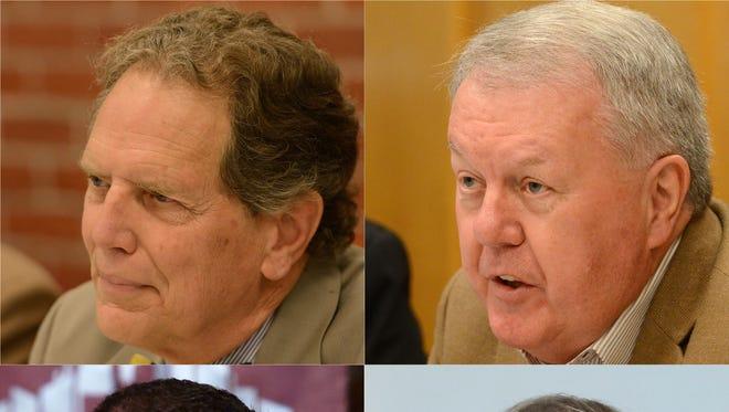 Salem City Council seat winners from top left, Tom Andersen, Steven McCoid. From bottom left, Daniel Benjamin and Jim Lewis