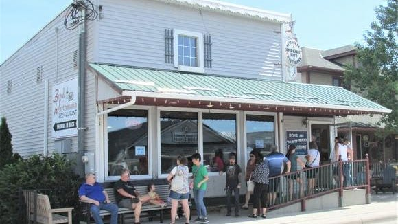 A busy Amish restaurant in Berlin, Boyd & Wurthmann, had folks lined up at the door on Friday waiting for a table.