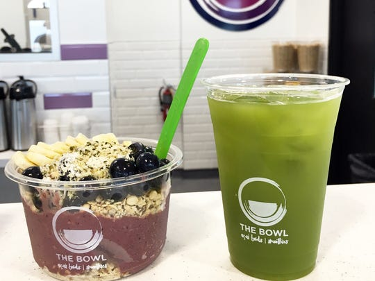 Iced matcha green tea has been added to the lineup at The Bowl, which recently launched a second location at 1200 Central Ave. in Naples.
