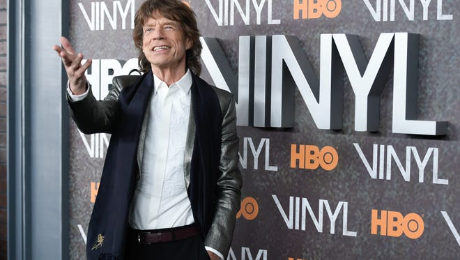 """In this Jan. 15, 2016 file photo, Mick Jagger attends the premiere of HBO's new drama series """"Vinyl"""", at the Ziegfeld Theatre in New York. Jagger said filming the show - which he created with Martin Scorsese - reminded him of the 1970s when the Stones were dominating the music scene and touring around the world."""