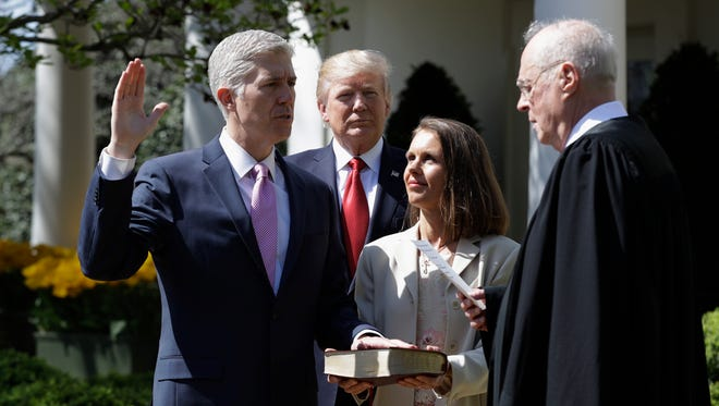 Newly confirmed Justice Neil Gorsuch has been a stickler for the Constitution, laws and precedents during his brief stint on the Supreme Court.