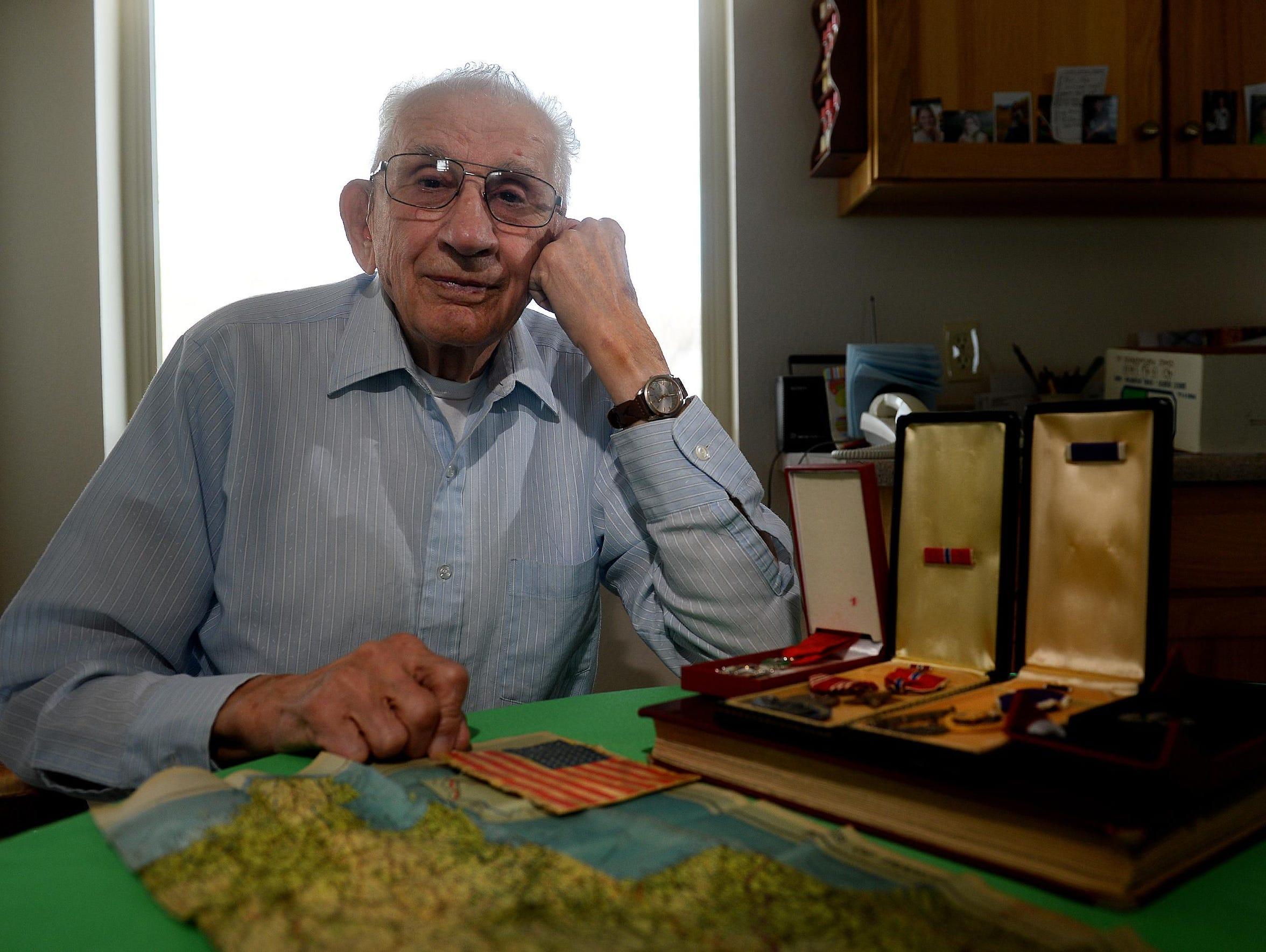 Bud Olson, a World War II veteran, talks about his