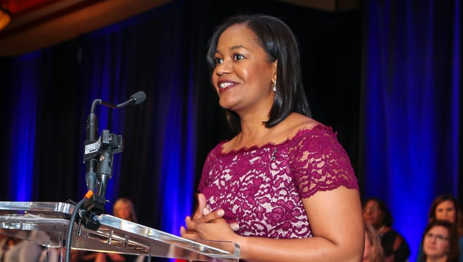 Yolanda Greene received the Young Professional Award at Rutherford Cable's annual ATHENA Awards celebration, held Thursday, April 19, 2018 at Embassy Suites Murfreesboro.
