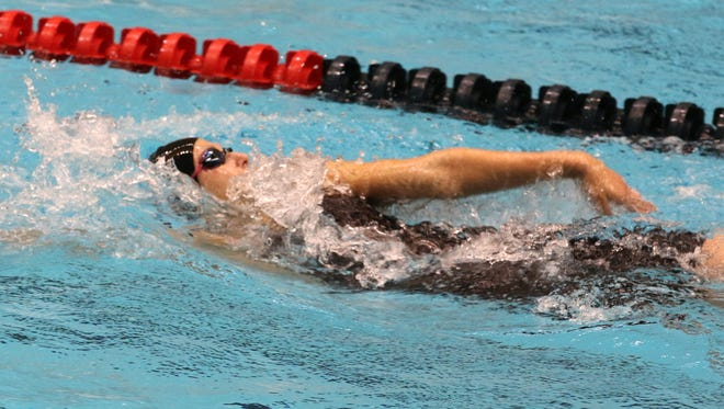 Central York High School senior Marisa Gingerich swims at the 2014 Long Course YMCA Nationals. submitted