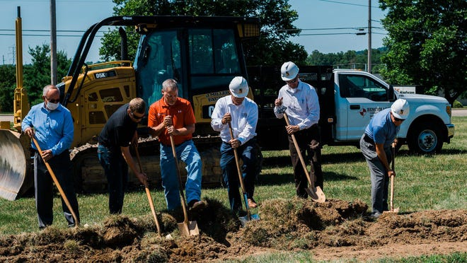 Ground was broken Wednesday for First Federal Community Bank facility in Dover. Construction is scheduled to begin Aug. 3 at the corner of N. Wooster Ave. and Ohio Ave. in the north end of Dover with an expected completion date late summer 2021. Photo courtesy of Teai Marie Photography