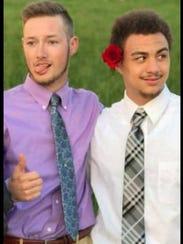 Daniel Dellagardelle, 21, left, and Elijah Showalter,
