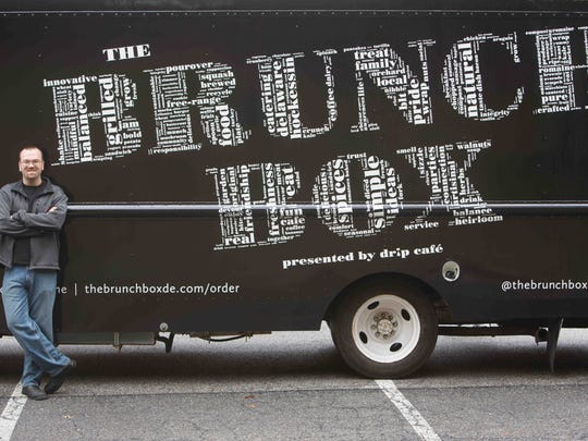 Greg Vogeley, owner of Hockessin's Drip Café, has a new food truck, The Brunch Box. The truck is an extension of the café aimed at corporate centers, events, festivals, and other places in New Castle and Chester counties.