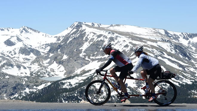 Valerie Mosley/Coloradoan library Cyclists ride Trail Ridge Road in Rocky Mountain National Park during the 2016 Ride the Rockies event. A bill sponsored by Sen. Cory Gardner, R-Colo., looks to quantify the economic impact of the nation?s natural resources and recreation industry. Cyclists ride Trail Ridge Road in Rocky Mountain National Park during the 2016 Ride the Rockies event.