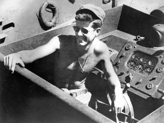 Former U.S. President and then U.S. Navy Lt. (jg) John