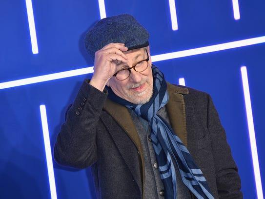 """Steven Spielberg attends the London premiere of """"Ready"""