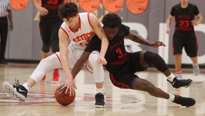 Palm Springs High School, in black uniform, defeated Palm Desert High School on February 8, 2018 and wins the DVL Title.