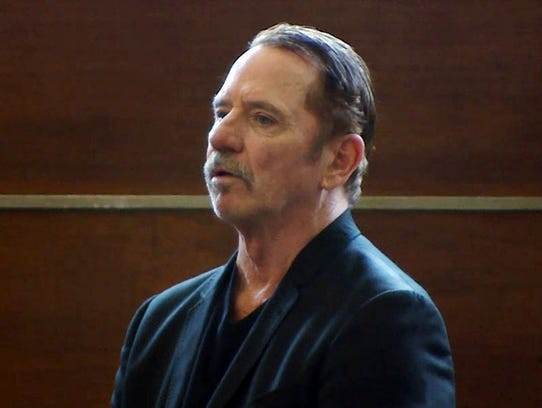 Actor Tom Wopat stands during an arraignment Aug. 3