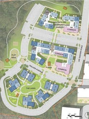 The layout for a new development at the current Lee Walker Heights complex