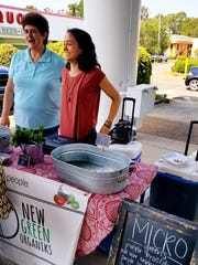 Julia and Marjorie Afyouni sell microgreens and homemade