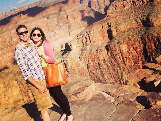 Brittany Maynard and her husband Dan Diaz pose at the