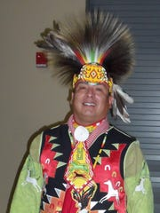 Robert Lincoln, whose Native American name means Iron Soldier because he is a U.S. combat veteran, is among the performers at the Tunica-Biloxi Pow Wow in Marksville.