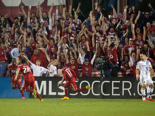 Fabian Castillo's late goal started the celebration