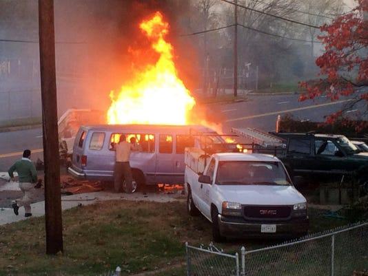 fiery-crash-van