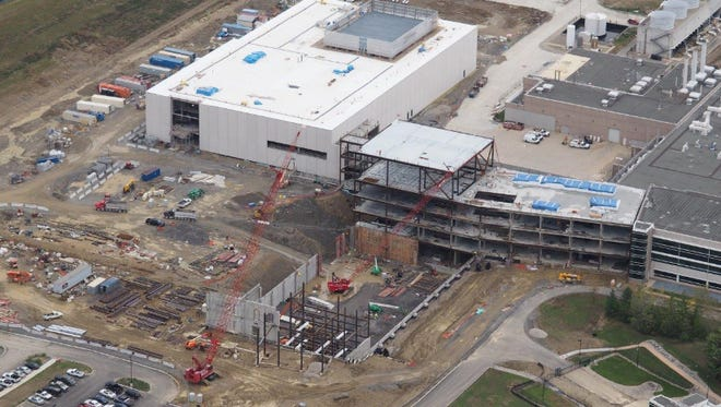 Construction is under way for a major expansion at P&G's Mason Business Center.
