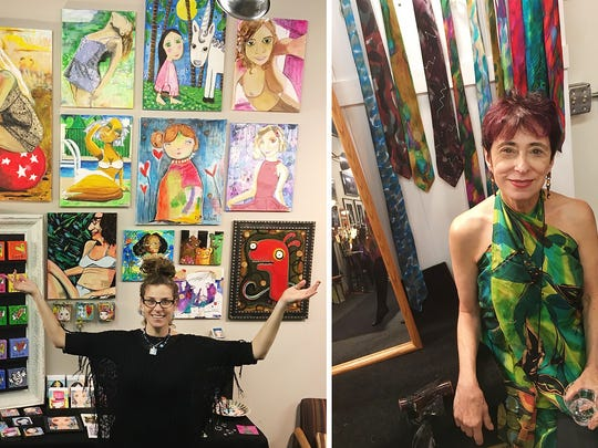 Artists Renée Schuls-Jacobson and Carol Domenico open their space in the Hungerford building, Studio 254, to visitors during First Fridays and Second Saturdays.