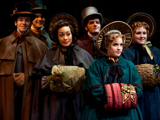 Carolers from the Alabama Shakespeare Festival production