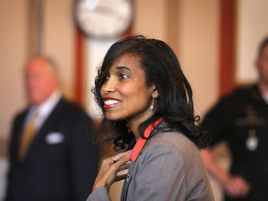 Suspended Juvenile Court Judge Tracie Hunter is suing to regain her right to vote this fall.