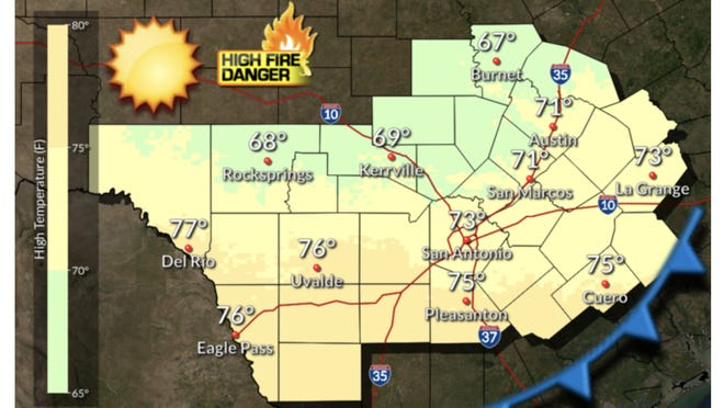 The National Weather Service's outlook calls for a sunny, but windy, day.