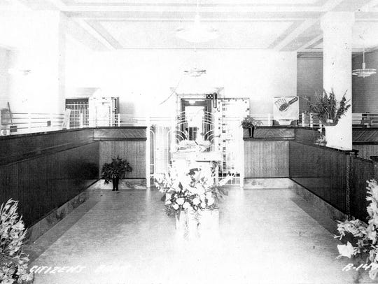 The lobby of the new Citizens Bank at Colorado Ave