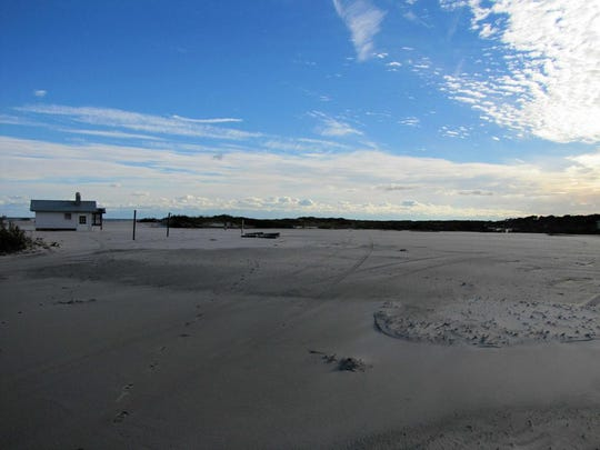 The South Ocean Beach parking lot after Hurricane Sandy in 2012.