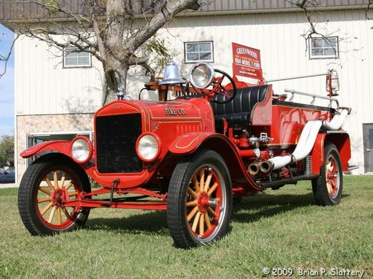 1924 - Model-T Ford First fire truck owned by the Greenwood Vol. Fire Compan