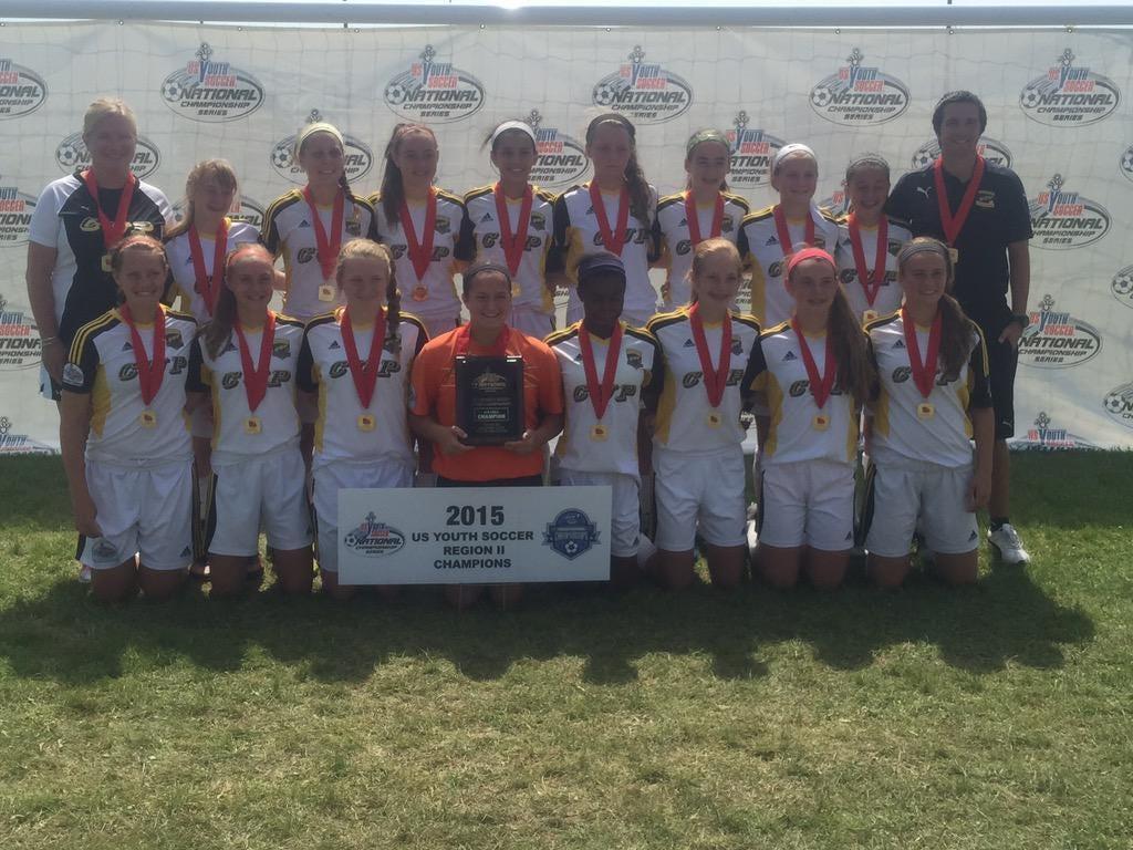 Cincinnati United Premier's U14 girls team qualified to nationals.