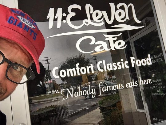 Food Network star Alton Brown posted this selfie outside of 11:Eleven Cafe in south Fort Myers to his Instagram account in February 2015, shortly before naming it one of the best places he'd eaten during his North American tour.