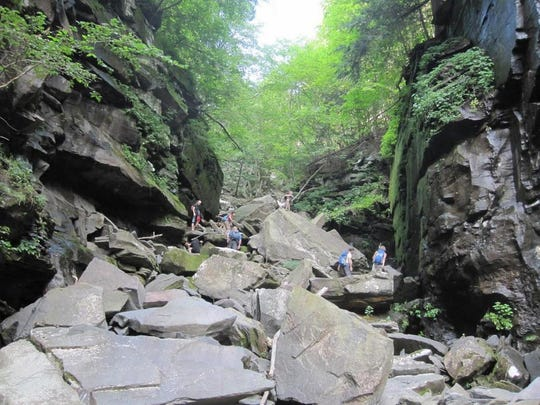 Devil's Kitchen is the ascent to exit the ravine.
