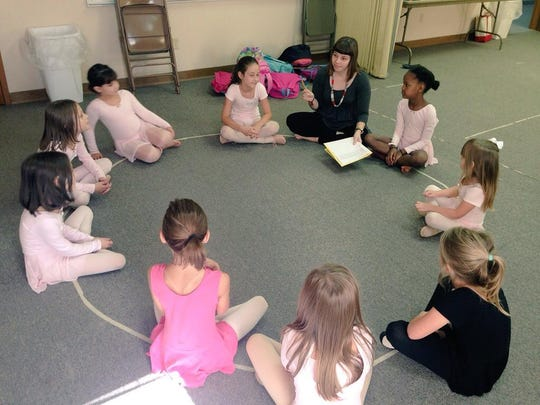 Jessica Blood begins the first day of ballet class on Monday through the Cenla Christian Home School Association co-op. The group meets every Monday for 10 weeks in the fall and 10 in the spring at Kingsville Baptist Church in Pineville.