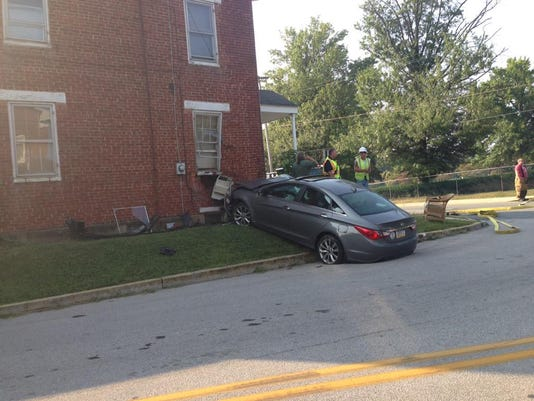 Crews responded to a crash off Baltimore Street this morning.