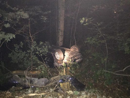 Wreckage of a crash in Jackson Township on August 18.