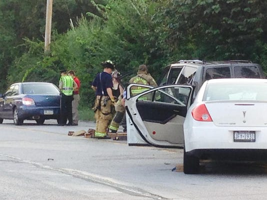 A four-vehicle crash caused traffic on Susquehanna Trail near Conewago Township.