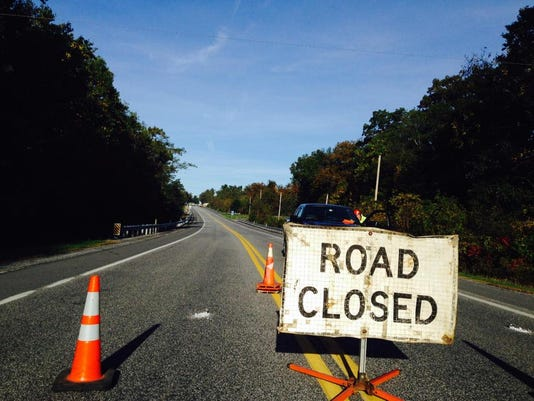 York Road in Warrington Township is closed following a crash.
