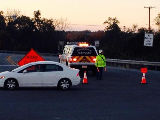 Route 116 at Route 30 was closed as a result of the crash.
