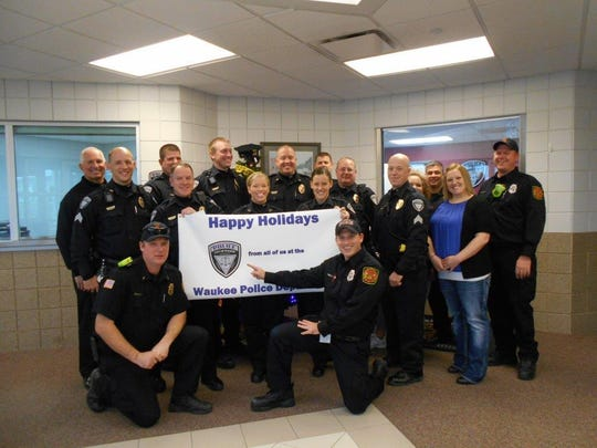 The Waukee Police Department served breakfast to 10 families and then took the children shopping Dec. 12 during the department's annual Shop with a Cop program.