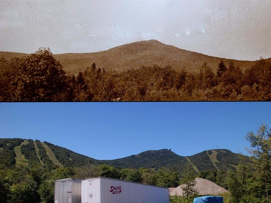 Contrast photos shows Jay Peak in 1934 and in 2012. The Jay Peak section of the Green Mountain National Park could have been from 20,000 to 50,000 acres.