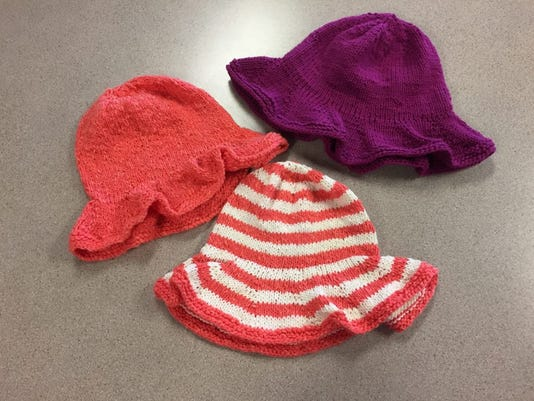 A Free Pattern For A Knitted Sun Hat