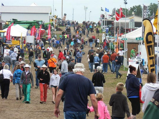 """Crowds fill the grounds of Tent City at the 2015 Farm Technology Days at Statz Brothers farm, Sun Prairie. Due to budget cuts, there will be a """"significant reduction in the educational footprint"""" from the UW Extension at Farm Technology Days events into the future."""