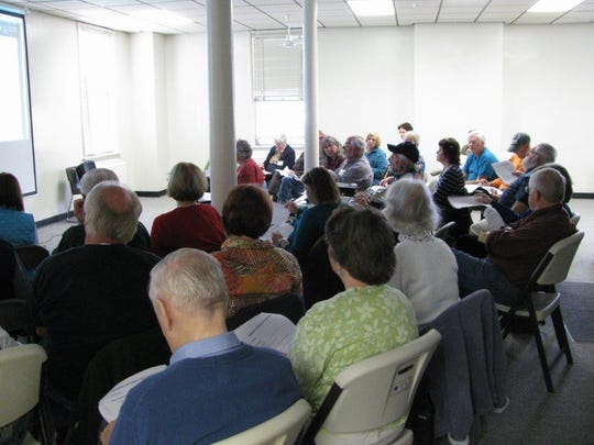 A class in session at the Vermont Genealogy Library in Colchester.